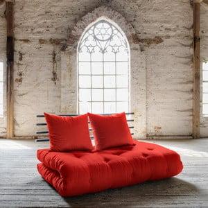 Shin Sano Black/Red kinyitható kanapé - Karup