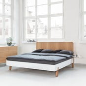 Mamma ágy fa fejtámlával, 180 x 200 cm - Jitona