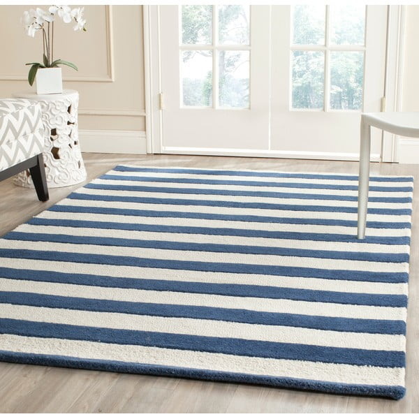 Ada kék gyapjúszőnyeg, 243x152 cm - Safavieh