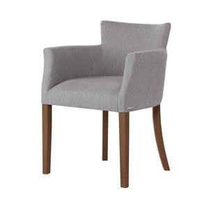 Santal szürke bükkfa szék, sötétbarna lábakkal - Ted Lapidus Maison