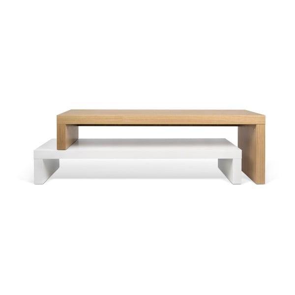 Cliff Oak fehér variálható asztal - TemaHome