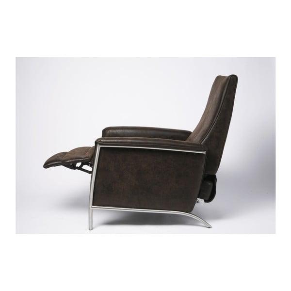 Relax barna fotel, kihajtható lábtartóval - Kare Design