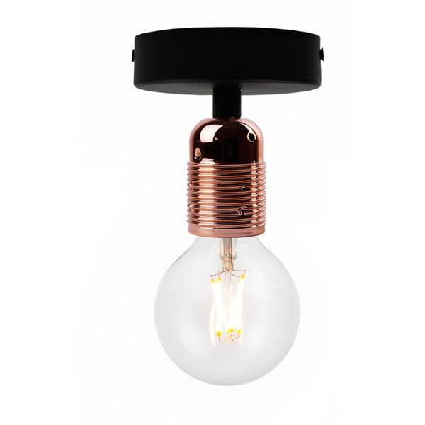 Uno Basic fekete mennyezeti lámpa, sárgaréz foglalattal - Bulb Attack