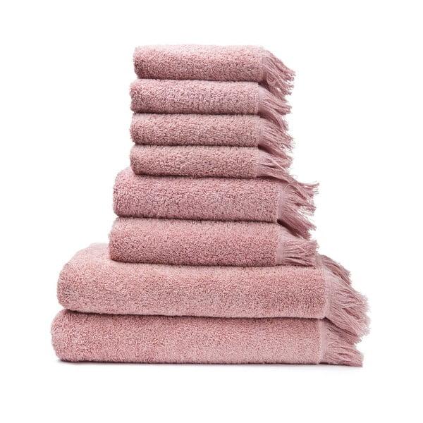 6 db rózsaszín 100% pamut törölköző és 2 db fürdőlepedő - Bonami