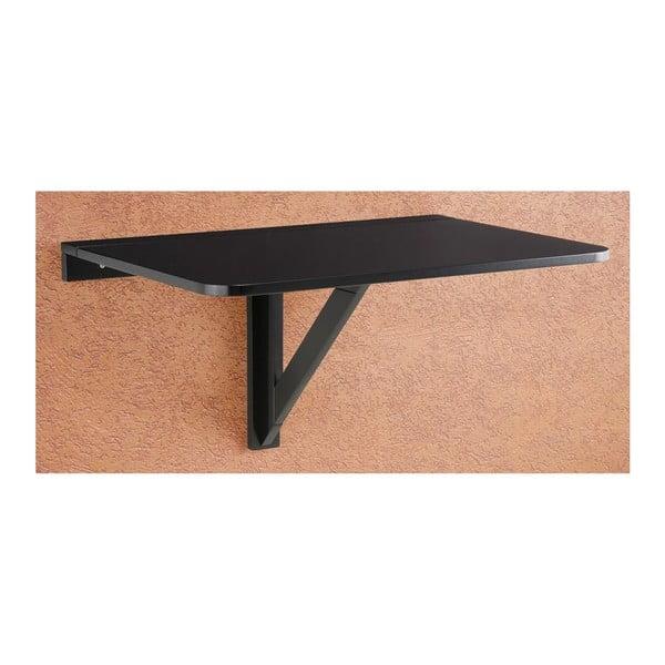 Trento fekete falra szerelhető lehajtható asztal, 41 x 80 cm - Støraa