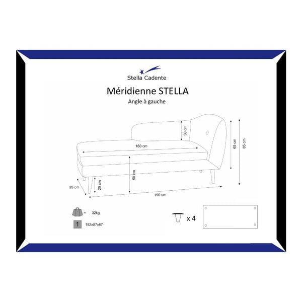 Lounge krémszínű bal oldali fekvőfotel - Scandi by Stella Cadente Maison
