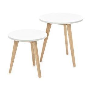 Vinst 2 db fehér tárolóasztal - Tomasucci