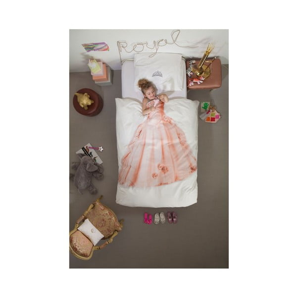 Princess egyszemélyes pamut ágyneműhuzat, 140 x 200 cm - Snurk