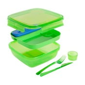 Lunch zöld ételtartó doboz evőeszközzel és hűtőbetéttel, 1,5 l - Snips