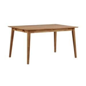 Mimi natúr tölgyfa étkezőasztal, hosszúság 140 cm - Folke