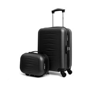 Oviedo 2 db-os fekete gurulós bőrönd szett - Infinitif