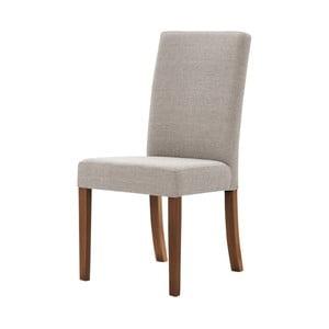 Tonka szürkésbarna bükkfa szék, sötétbarna lábakkal - Ted Lapidus Maison