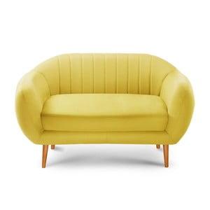 Comete sárga kétszemélyes kanapé - Scandi by Stella Cadente Maison