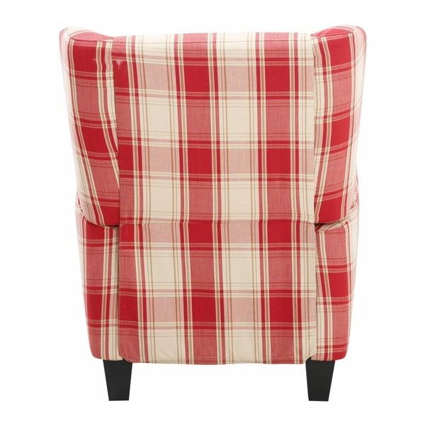 Aladdin piros-kockás széthúzható fotel - Støraa