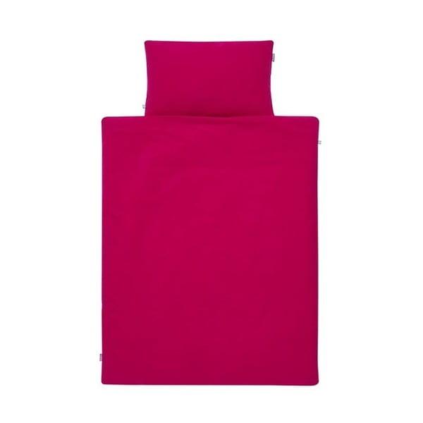 Rózsaszín pamut kétszemélyes ágyneműhuzat garnitúra, 200x200 cm - Mumla