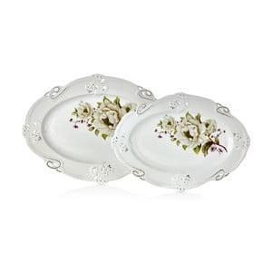 Franz Johann porcelán tál, 2 db