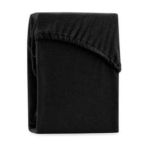 Ruby Black fekete kétszemélyes gumis lepedő, 200-220 x 200 cm - AmeliaHome
