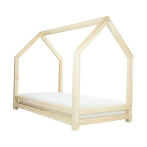 Funny természetes egyszemélyes ágy, borovi fenyőből, 80 x 160 cm - Benlemi