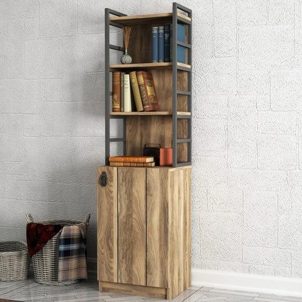 Lost diófa mintás könyvespolc szekrénnyel
