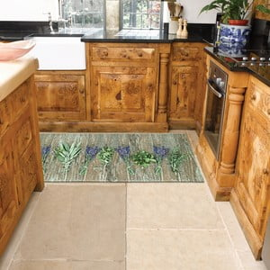 Lavender rendkívül ellenálló konyhai szőnyeg, 60 x 115 cm - Webtappeti