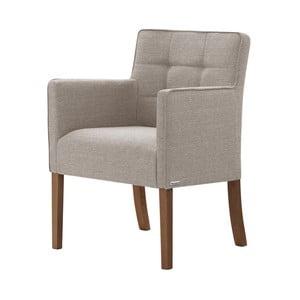 Šedohnědá židle s tmavě hnědými nohami z bukového dřeva Ted Lapidus Maison Freesia