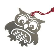 Owl bagoly alakú fém könyvjelző - Just Mustard