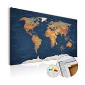 Ink Oceans fali világtérkép, 90 x 60 cm - Bimago