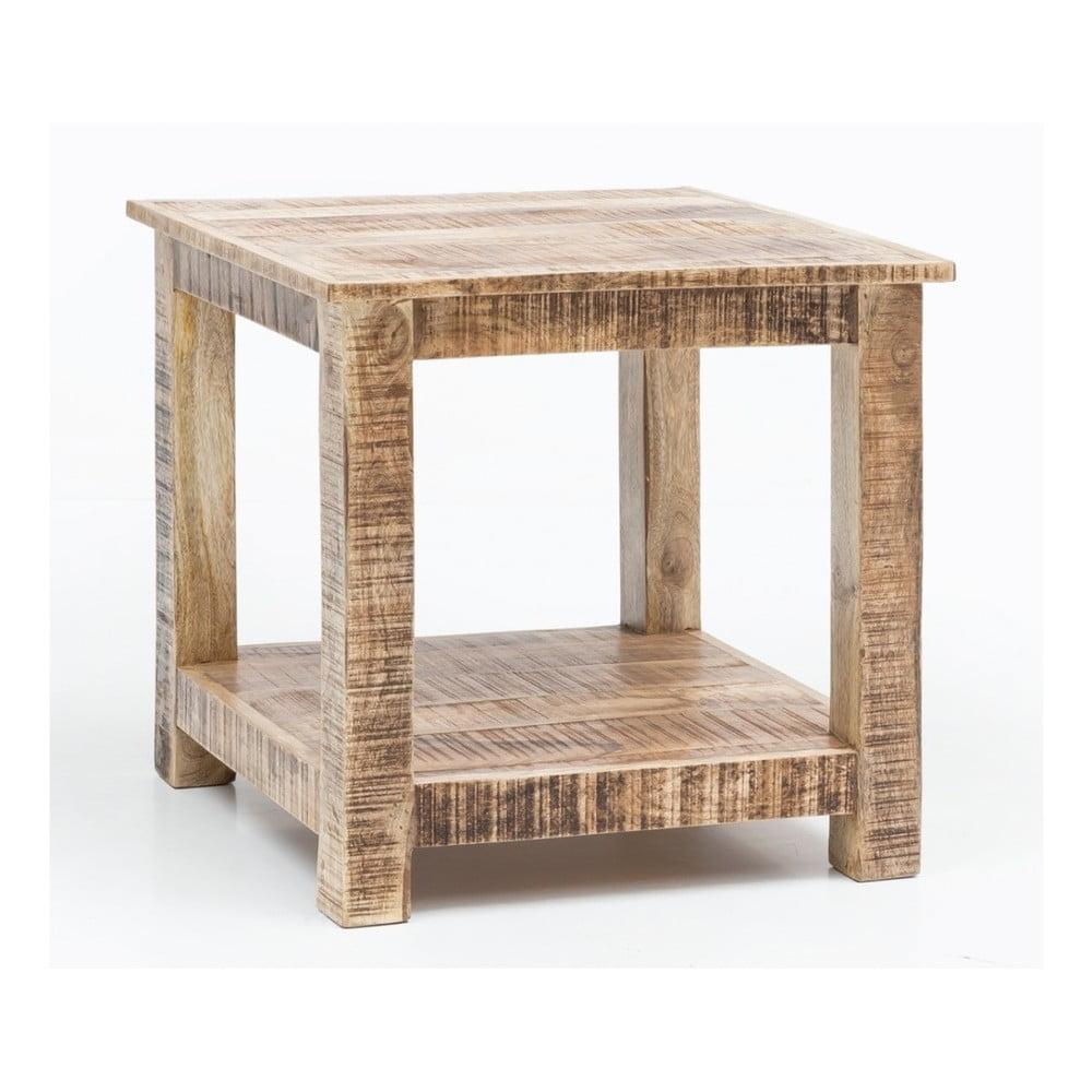 204989350a RUSTICA tömör mangófa dohányzóasztal, magassága 60 cm - Skyport | Bonami