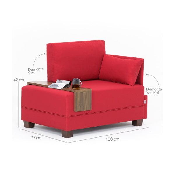 Home Martha piros fotel jobb oldali kartámasszal és tartóval - Balcab