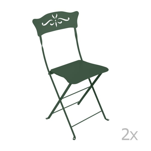 Bagatelle zöld összecsukható fém kerti szék, 2 db - Fermob