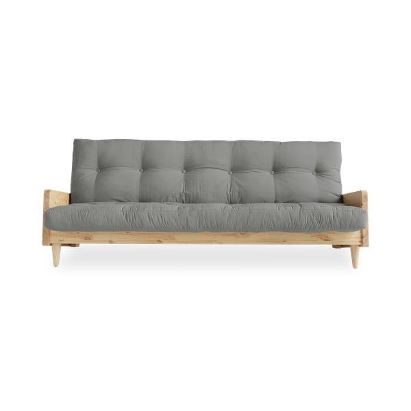 Indie Natural Clear/Grey kinyitható kanapé - Karup Design
