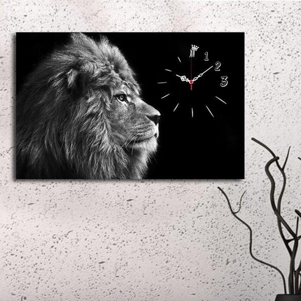 Lví dekoratív falióra, 45 x 70 cm