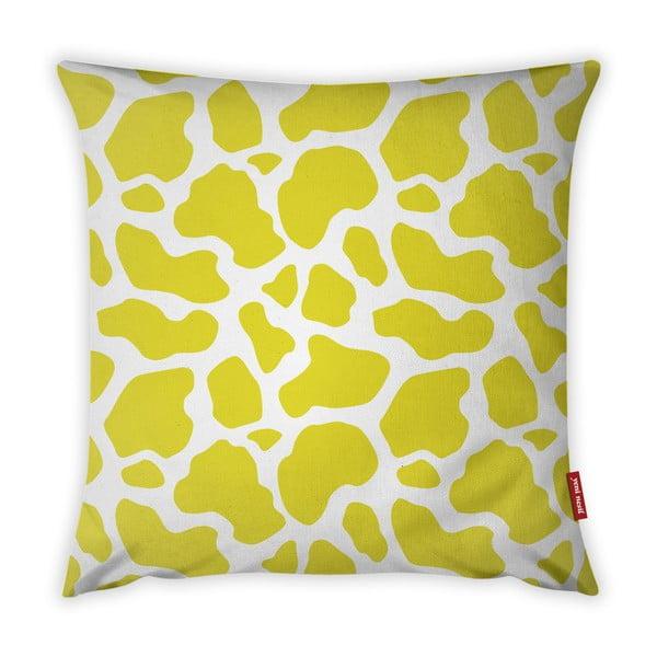 Animal Print sárga-fehér párnahuzat, 43 x 43 cm - Vitaus