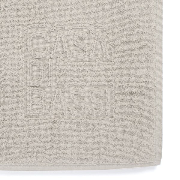 Basic világosszürke pamut fürdőszobai kilépő, 50 x 70 cm - Casa Di Bassi