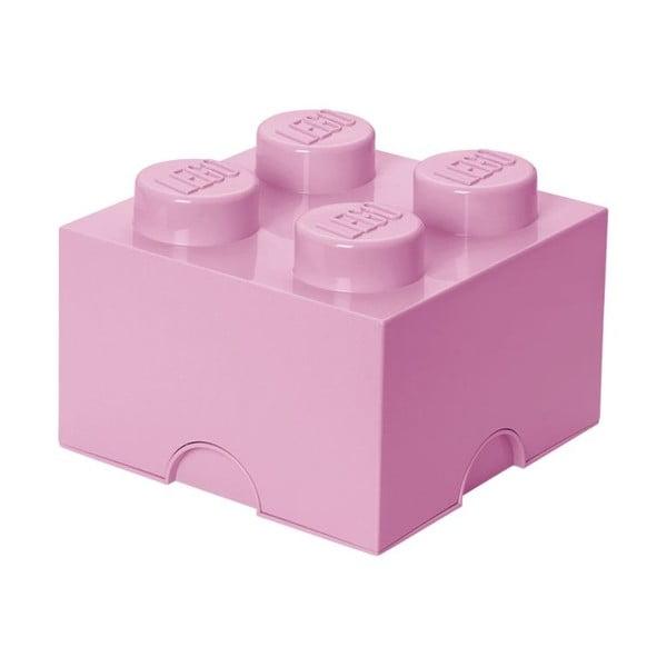 Világos rózsaszín négyszögletes tárolódoboz - LEGO®