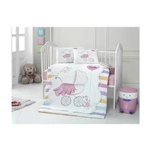 Pastel pamut gyerek ágyneműhuzat garnitúra lepedővel, 100 x 150 cm