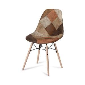 Hnědá jídelní židle s nohami z bukového dřeva Furnhouse Sun Patch
