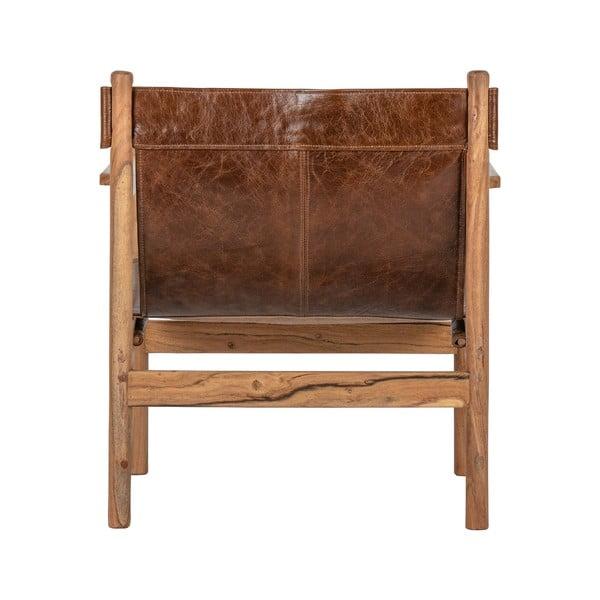 Chill barna bivalybőr fotel - BePureHome