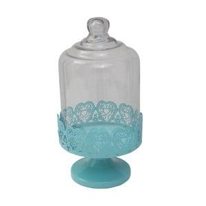 Kék tálaló állvány üveg fedéllel, Ø 13 cm - Mauro Ferretti