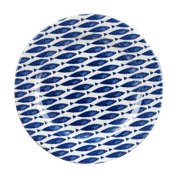 Couture Fishie Blue agyagkerámia tányér, ⌀ 30 cm - Churchill China