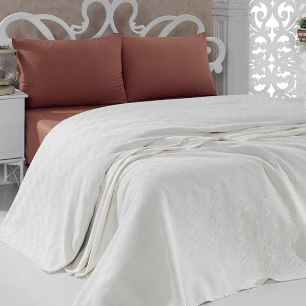 Pique Cream könnyű pamut ágytakaró, 200 x 240 cm - Unknown