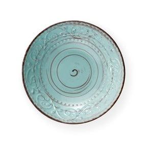 Tyrkysový talíř z kameniny na polévku Brandani Serendipity, ⌀ 20 cm