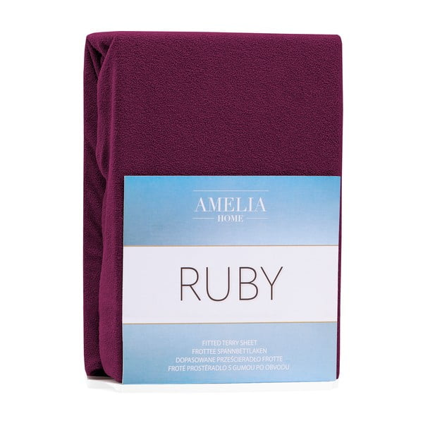 Ruby sötétlila gumis lepedő, 200 x 140-160 cm - AmeliaHome