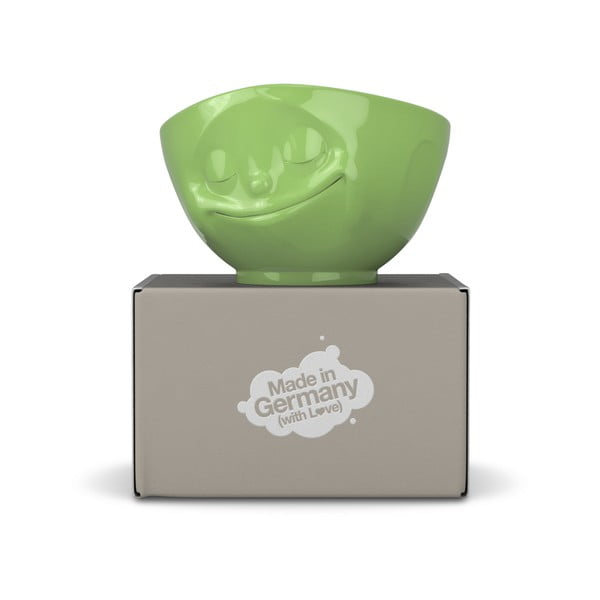 Zöld 'boldog' porcelán edény - 58products