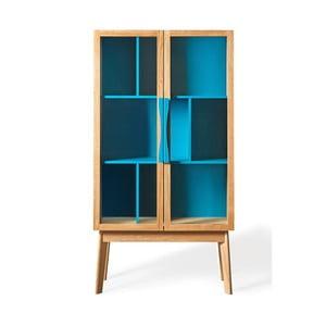 Avon kék könyvespolc/vitrin - Woodman