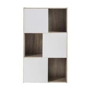 Polsi fehér háromajtós könyvespolc - Demeyere