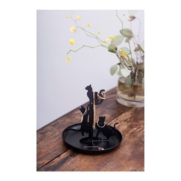 Cats fekete ékszertartó - Kikkerland