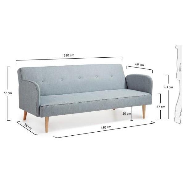 Kail világosszürke kinyitható kanapé - La Forma