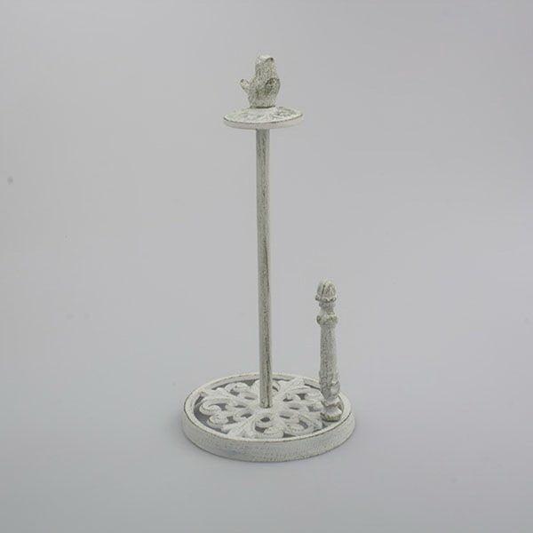 Fehér öntöttvas papírkendő állvány - Dakls