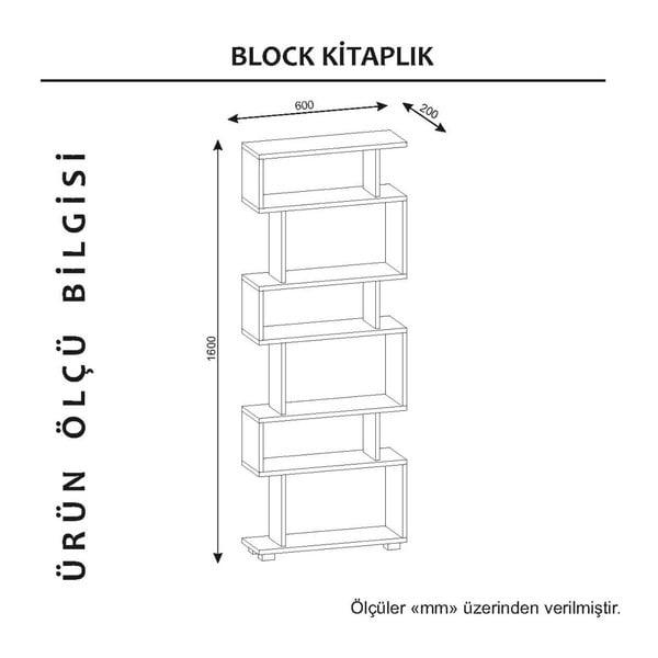 Blok fehér könyvespolc